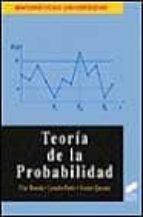 teoria de la probabilidad-pilar ibarrola-leandro pardo-vicente quesada-9788477385165