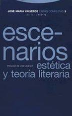 escenarios: estetica y teoria literaria (obras completas, vol. 3)-jose maria valverde-9788481643565