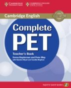complete pet for spanish speakers (teacher s book) (cef level b1) emma heyderman peter may rawdon wyatt 9788483237465