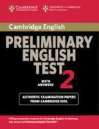 cambridge pet 2. student s book with answers (cambridge prelimina ry english test) 9780521754675
