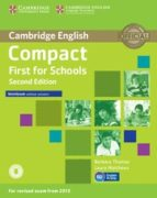 compact first for schools second edition workbook without answers with audio-9781107415775