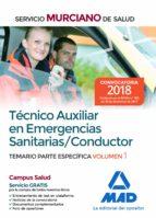 tecnico auxiliar en emergencias sanitarias/conductor: temario parte especifica (vol. 1)-9788414214275