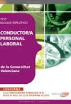 CONDUCTOR /A PERSONAL LABORAL DE LA GENERALITAT VALENCIANA: TEST BLOQUE ESPECIFICO