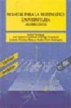 manual para la matematica universitaria algebra lineal santiago fernandez antonio martinez marcos rafael paniagua gomez alvarez 9788473561075