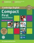 compact first second edition student s pack (student s book without answers with cd rom,      workbook without answers with audio) 9781107428485