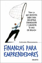 finanzas para emprendedores (ebook)-antonio manzanera-9788423412785