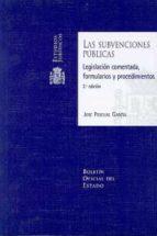 subvenciones publicas: legislacion comentada, formularios y proce dimientos (incluye cd r) (2ª ed.) jose pascual garcia 9788434018785