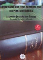como hacer una tesis doctoral con los planes de bolonia (2ª ed.) 9788469734285