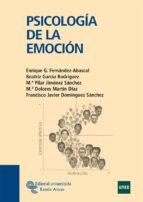 psicologia de la emocion enrique g fernandez abascal 9788480049085