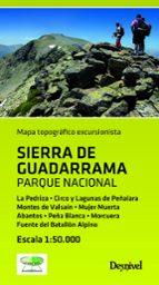 mapa topografico excursionista sierra de guadarrama. parque nacio nal 9788498292985