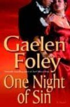 one night of sin gaelen foley 9780345480095