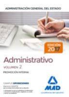 ADMINISTRATIVO DE LA ADMINISTRACION GENERAL DEL ESTADO (PROMOCION INTERNA). TEMARIO (VOL. 2)
