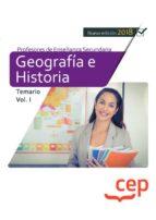 cuerpo de profesores de enseñanza secundaria. geografía e historia temario volumen  i 9788417625795