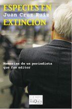 especies en extincion juan cruz ruiz 9788483834695