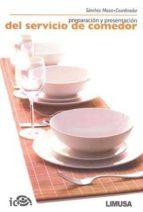 preparacion y presentacion del servicio de comedor miguel sánchez maza 9789681871895