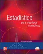 estadistica para ingenieros y cientificos (incluye cd rom) william navidi 9789701056295