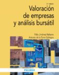 VALORACIÓN DE EMPRESAS Y ANÁLISIS BURSÁTIL (2ª ED.) - 9788436836905 - FELIX JIMENEZ NAHARRO