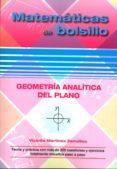 GEOMETRIA ANALITICA DEL PLANO - 9788494419805 - VICENTE MARTINEZ ZAMALLOA