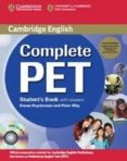 COMPLETE PET: STUDENT S BOOK PACK (STUDENT S BOOK/ANSWERS/CD-ROM/ CDS (2)) - 9780521741415 - PETER MAY