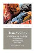 crítica de la cultura y la sociedad ii (ebook)-theodor w. adorno-9788446046615