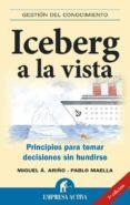 ICEBERG A LA VISTA: PRINCIPIOS PARA TOMAR DECISIONES SIN HUNDIRSE - 9788492452415 - PABLO MAELLA CERRILLO