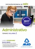 ADMINISTRATIVOS DE LA DIPUTACION PROVINCIAL DE JAEN: TEMARIO (VOL. 2) - 9788414210345 - VV.AA.