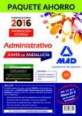 PAQUETE AHORRO ADMINISTRATIVO (PROMOCIÓN INTERNA) JUNTA DE ANDALUCÍA (INCLUYE TEMARIOS VOLÚMENES 1 Y 2, TEST Y ACCESO A CAMPUS ORO) - 9788467678345 - VV.AA.
