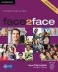 FACE2FACE FOR SPANISH SPEAKERS STUDENT S BOOK WITH DVD-ROM AND HA NDBOOK WITH AUDIO CD (2ND EDITION) (LEVEL UPPER-INTERMEDIATE) - 9788483232545 - CHRIS REDSTON