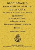 DICCIONARIO GEOGRAFICO-HISTORICO DE ESPAÑA (ED. FACS.) - 9788497610445 - VV.AA.