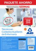 PAQUETE AHORRO AUXILIAR DE ENFERMERÍA SERVICIO DE SALUD DE LA COMUNIDAD DE MADRID. AHORRO DE 95 ¤ (INCLUYE TEMARIOS 1, 2 Y 3; - 9788414219355 - VV.AA.
