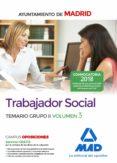 TRABAJADOR SOCIAL DEL AYUNTAMIENTO DE MADRID. TEMARIO GRUPO II VOLUMEN 3 - 9788414213865 - VV.AA.