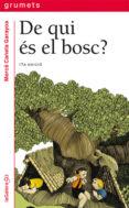 DE QUI ES EL BOSC? - 9788424681265 - MERCÈ CANELA GARAYOA