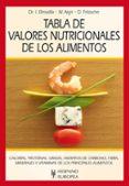 TABLA DE VALORES NUTRICIONALES DE LOS ALIMENTOS - 9788425520365 - VV.AA.