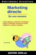 MARKETING DIRECTO EN UNA SEMANA - 9788480889865 - DEE TWOMEY