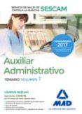 AUXILIAR ADMINISTRATIVO DEL SERVICIO DE SALUD DE CASTILLA-LA MANCHA (SESCAM). TEMARIO VOLUMEN 1 - 9788414204085 - VV.AA.