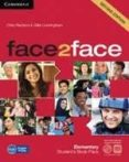 FACE2FACE FOR SPANISH SPEAKERS STUDENTS BOOK WITH DVD-ROM, ONLINE WORKBOOK PACK AND HANDBOOK WITH AUDIO CD (2ND ED.) (LEVEL ELEMENTARY) - 9788483232385 - CHRIS REDSTON