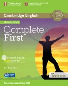 Ipod y descargar libros COMPLETE FIRST (2ND EDITION) STUDENT S BOOK WITH ANSWERS, CD-ROM & TESTBANK PDF iBook FB2 9781107501805 de  en español