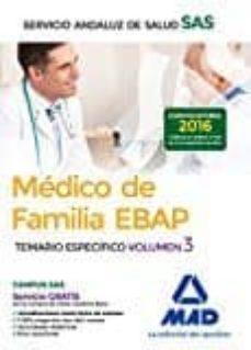Inmaswan.es Medico De Familia Ebap Del Servicio Andaluz De Salud. Temario Especifico (Vol. 3) Image