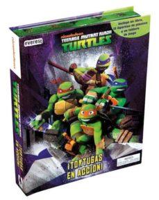 Encuentroelemadrid.es Teenage Mutant Ninja Turtles. ¡Tortugas En Accion (Incluye Libro + 12 Figuritas Plastico Y Un Tablero De Juego) Image