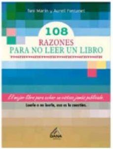 Descargas de libros electrónicos para kindle 108 RAZONES PARA NO LEER UN LIBRO