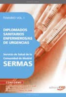 Lofficielhommes.es Diplomados Sanitarios Enfermeros/as De Urgencias Del Servicio De Salud De La Comunidad De Madrid. Sermas. Temario Vol. I. Image