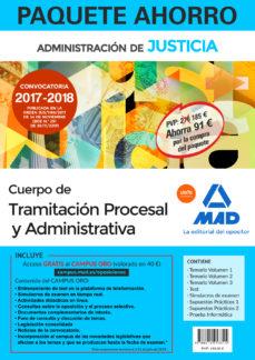 paquete ahorro tramitación procesal y administrativa (turno libre). (incluye temario volúmenes 1, 2 y 3; test;-9788414213315