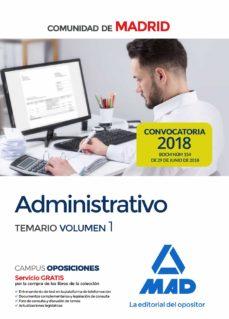 Encuentroelemadrid.es Administrativo De La Comunidad De Madrid Temario Volumen 1 Image