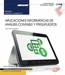 Cdaea.es (Uf0335) Manual. Aplicaciones Informaticas De Analisis Contable Y Presupuestos. Certificados De Profesionaluidad. Financiacionde Empresas (Adgn0108) Image