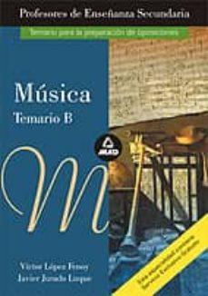 Lofficielhommes.es Musica. Temario B: Profesores De Educacion Secundaria Image