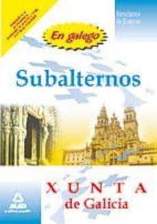 Permacultivo.es Subalternos De La Xunta De Galicia. Simulacros De Examen (En Gall Ego) Image