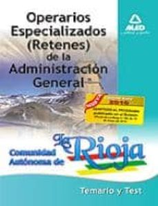 Inmaswan.es Operaciones Especializados (Retenes) De La Administracion General De La Comunidad Autonoma De La Rioja: Temario Y Test Image