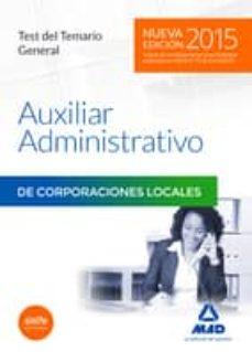 Titantitan.mx Auxiliares Administrativos De Corporaciones Locales. Test Del Temario General Image