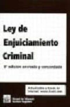Elmonolitodigital.es Ley De Enjuiciamiento Criminal (9ªedicion Anotada Y Concordada) Image