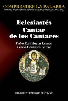 Libros de audio descargables gratis en línea ECLESIASTES- CANTAR DE LOS CANTARES 9788422021025 (Spanish Edition)